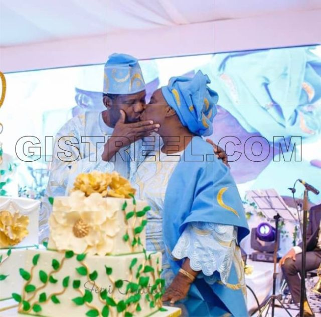 adeboye and wife - Pastor Adeboye Celebrates Spouse With A Passionate Kiss On Her 72nd Birthday