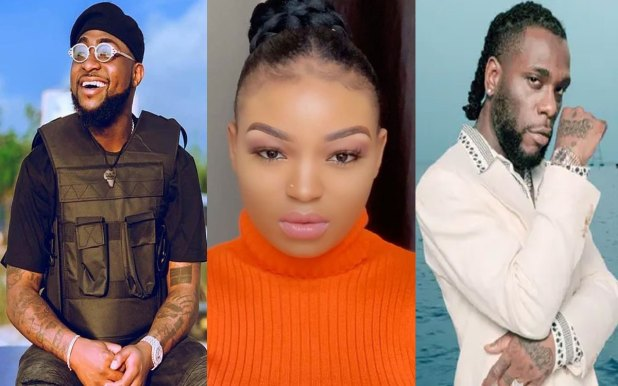 coco brown davido burna boy 1 - The Video of Singer Lyta Cuddling up Coco Brown In The bathroom Gone Viral (Watch It)