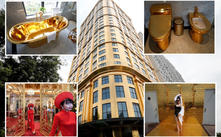 See Amazing Pictures of The Expensive Hotel Made Of Gold In Vietnam