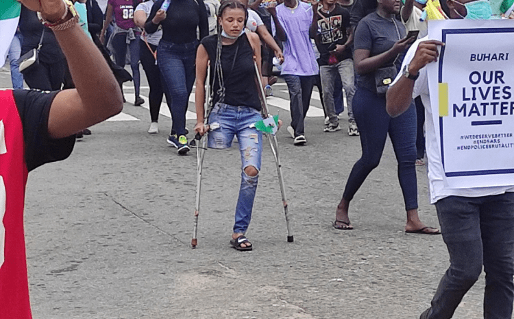 EndSARS Protesters Donate over N3.2 million for Nigerian Lady with no limb | See Details