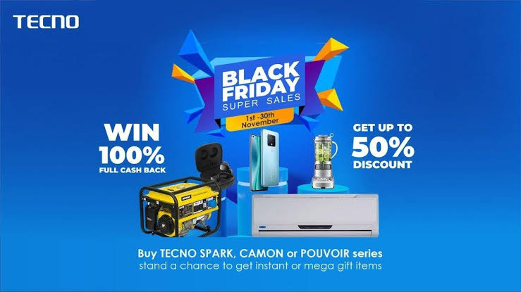 Win Air Conditioner, Fridge and up to 100% Discounts in TECNO Black Friday Sales
