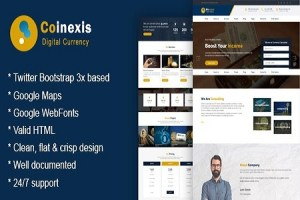 Cryptocurrency Marketing and Trading Website Template