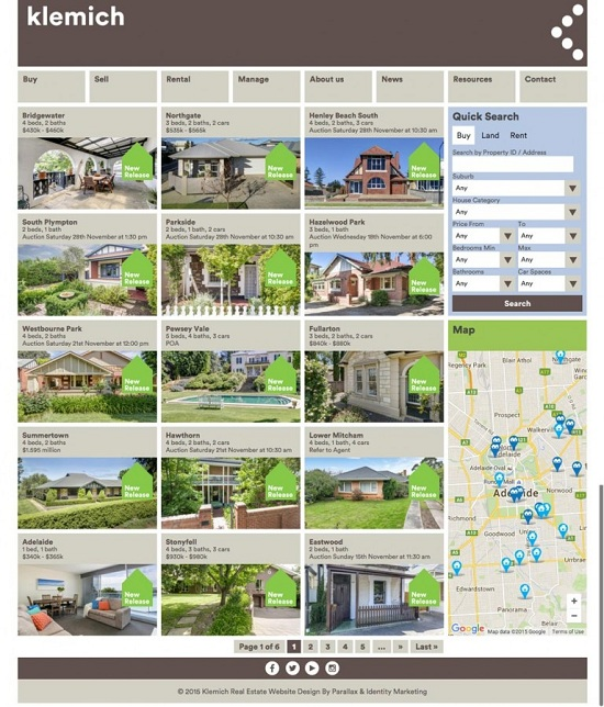 Klemich Real Estate and Property Management Adelaide - Easy House Listings Software for Real Estate Agent Websites