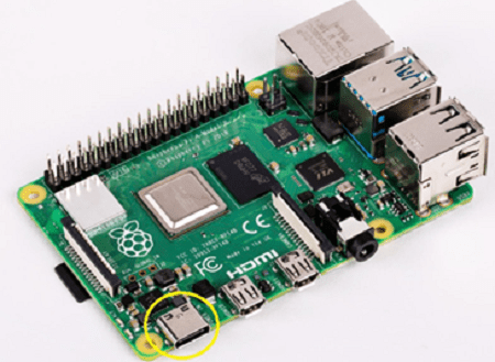 Type C power - Raspberry Pi Hardware Installation Guide and Training Book