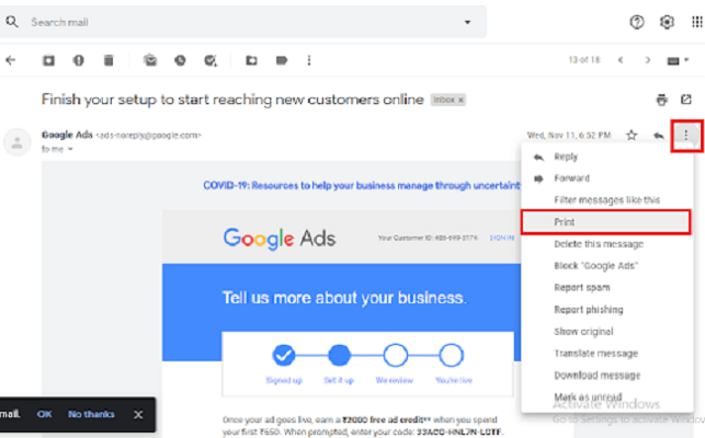 Gmail eMails