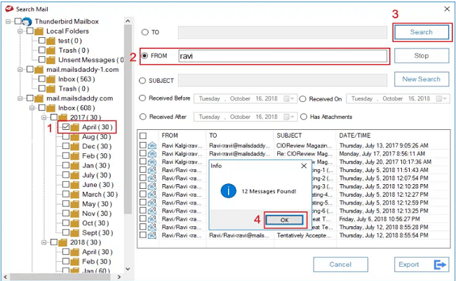 Export Multiple Thunderbird Email to Outlook