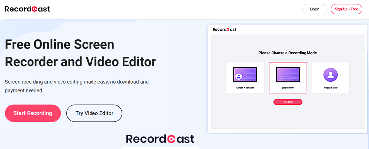 Record video tutorials with RecordCast