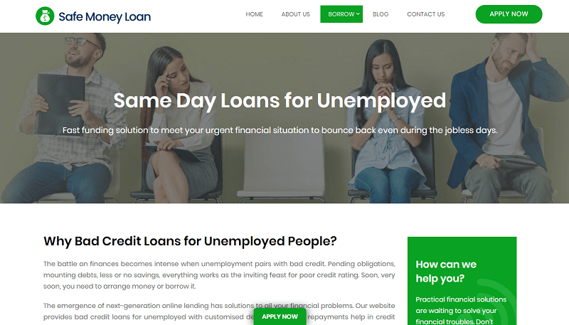 Unemployed Can Be Financially Stabilized