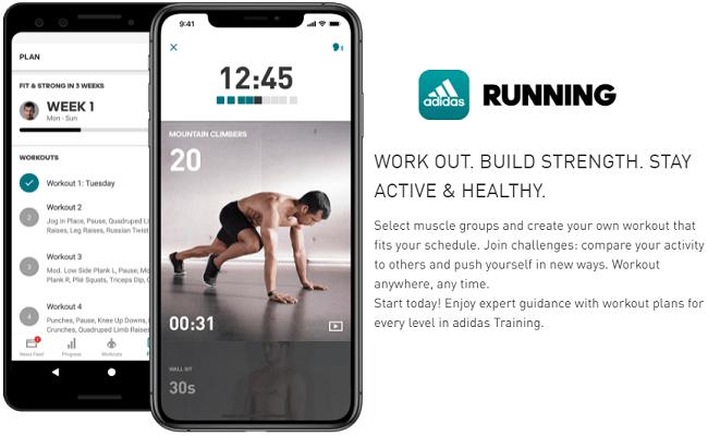 How to use Adidas Running App for Home Workout Plan
