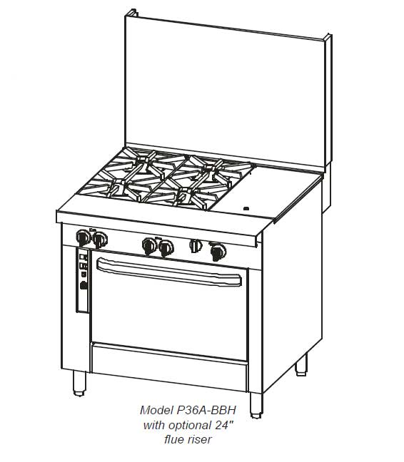 Southbend Platinum 36 Inch, P36 Restaurant Ranges in