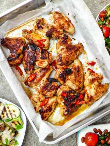 Harissa chicken wings – recipe – A kitchen in Istanbul