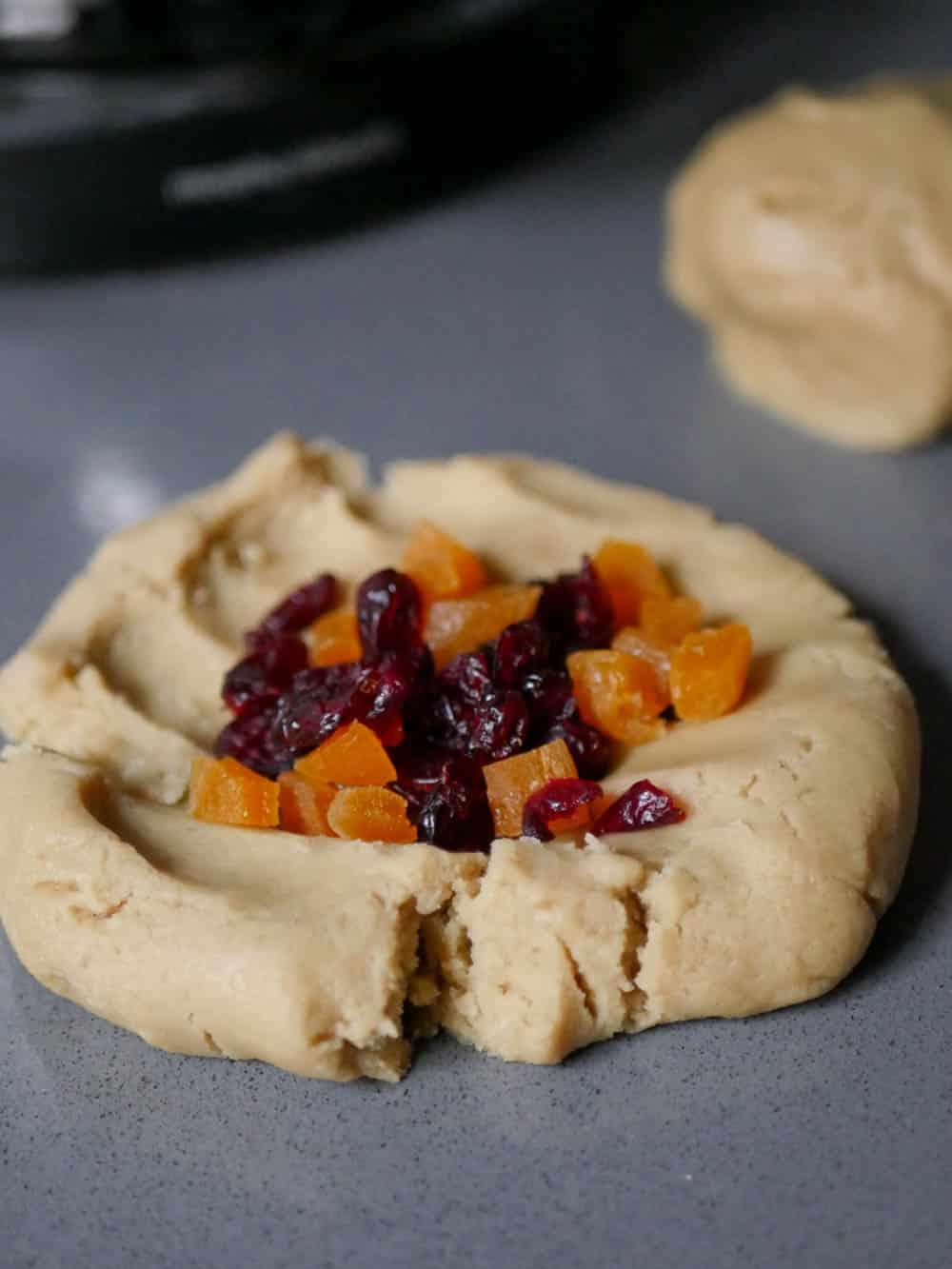 Tahini cookies with cranberries & apricot - recipe / A kitchen in Istanbul