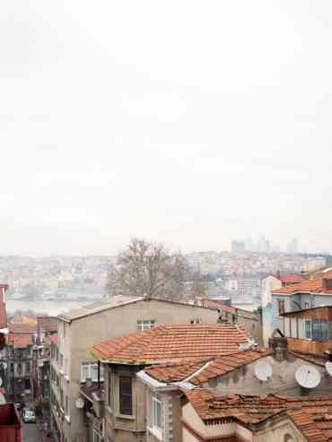 View from my roof terrace in Balat, Istanbul / A kitchen in Istanbul