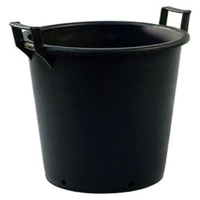 30lt Extra Large Heavy Duty Plastic Tree & Shrub Container Plant Pot with Handles 41 x 33