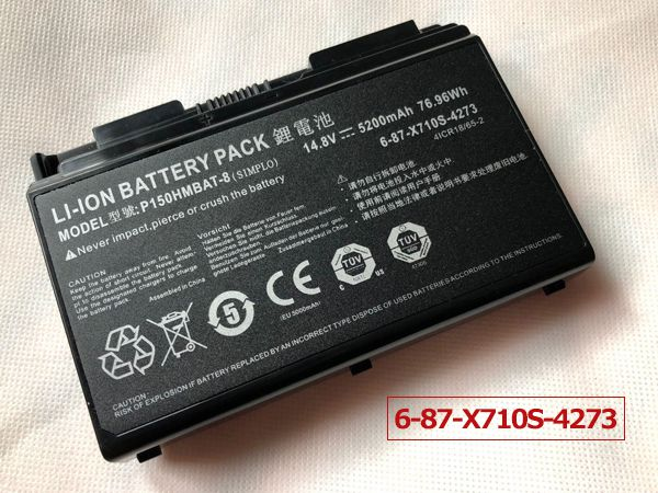 LAPTOP-BATTERIE Clevo P150HMBAT-8