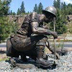 fiberglass soldier sculptures