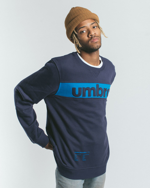 AK X UMBRO Fear Love Sueded Fleece Crewneck 1