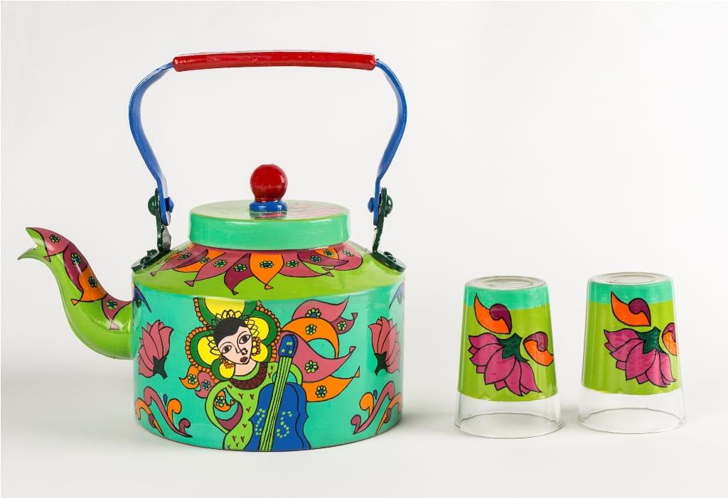 Tea Pots Online Buy Hand Painted Kettle Set Online In