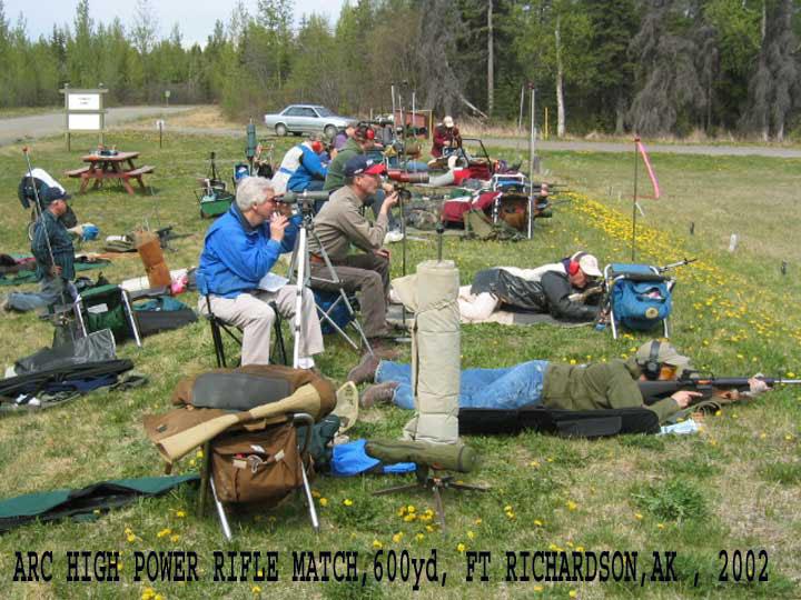 ARC Highpower rifle match 600 yds Ft Richardson AK 2002