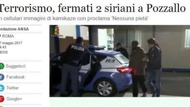 "Photo of إيطاليا : القبض على لاجئين سوريين عثر في هواتفهما على صور لـ "" انتحاريين بأحزمة ناسفة """