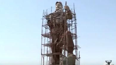 صورة كردستان العراق : تمثال ضخم تخليداً لذكرى مقاتلي البيشمركة في كركوك ( فيديو )