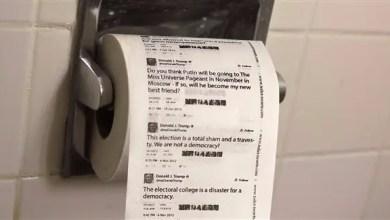 """Photo of ورق تواليت بـ """" تغريدات ترامب """" يحقق مبيعات مرتفعة"""