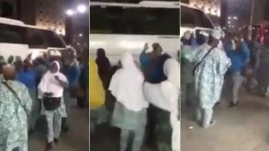 Photo of بالفيديو .. رجال و نساء نيجيريين يرقصون في شوارع المدينة المنورة احتفالاً بوصولهم لأداء فريضة الحج !