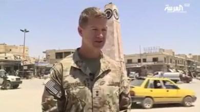 Photo of مسؤول عسكري أمريكي من داخل الرقة : باقون في سوريا ( فيديو )