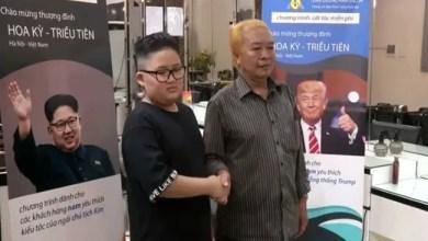 "Photo of قصات شعر ترامب و كيم "" مجاناً "" بصالون في فيتنام !"