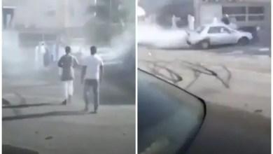 صورة ضابط بالجيش يدهس 3 كويتيين تعبيراً عن فرحته ! ( فيديو )
