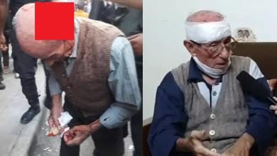 """صورة تفاصيل اعتداء """" وحش بشري فاسد على رجل مسن أمام دور الخبز في حلب """" ( فيديو )"""