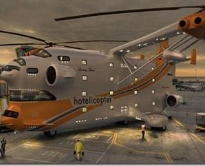 Dünyanın İlk Helikopter Oteli: Hotelicopter