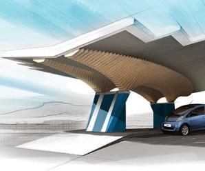 Peugeot Design Lab's tan Şehir Peyzajına Uygun Güneş Enerjili Şarj İstasyonu