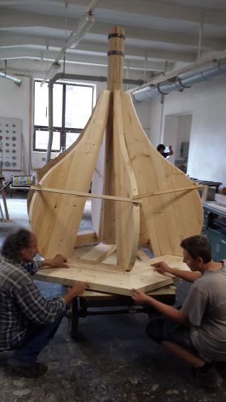 výroba konstrukce sanktusové věže kostela Petrovice
