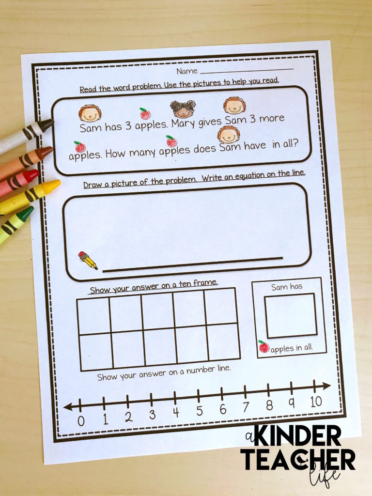 hight resolution of Let's Solve Word Problems Using Multiple Strategies - A Kinderteacher Life