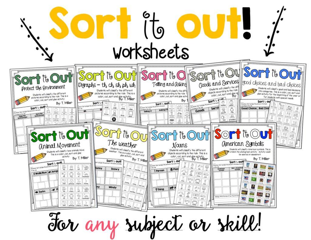 Sort Worksheets