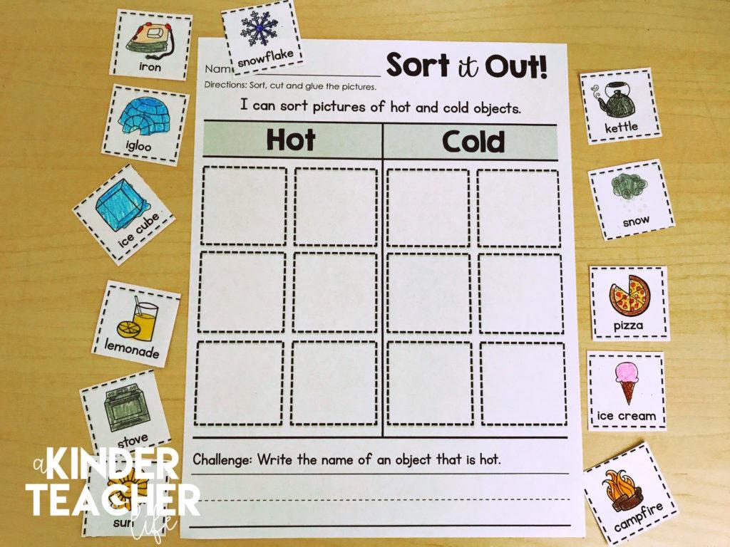 Preschool Worksheet Sorting Bread