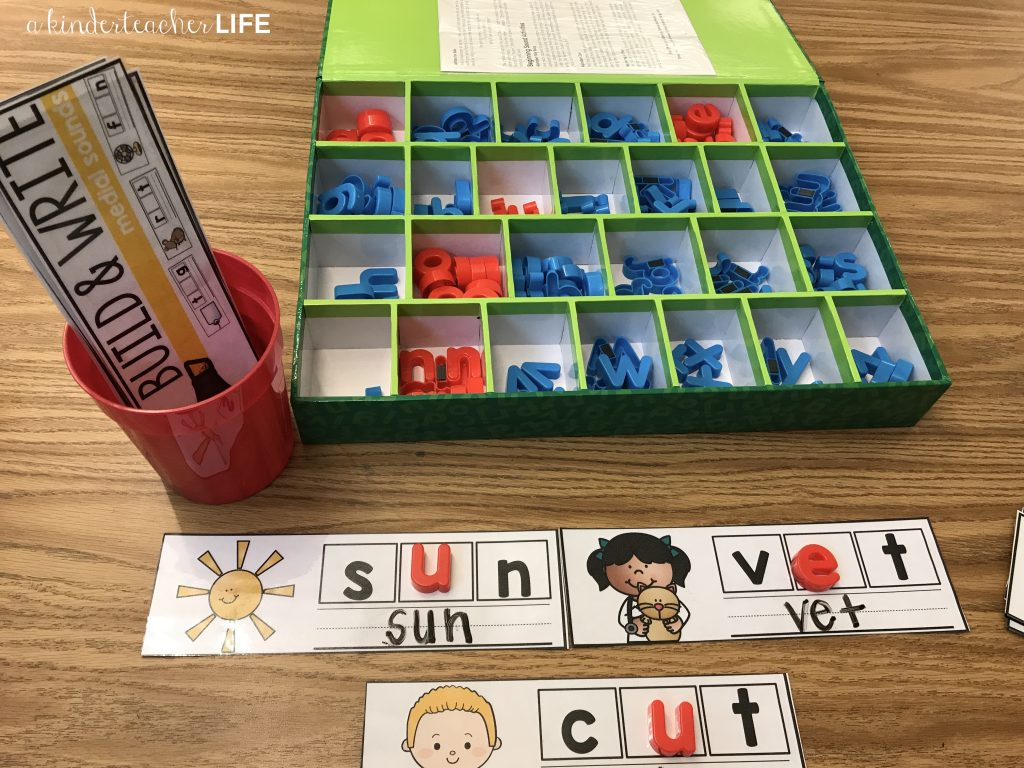 Build And Write Phonics Activity