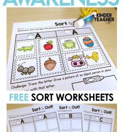 Free Phonological Awareness Worksheets   Printable Worksheets and  Activities for Teachers [ 2249 x 1299 Pixel ]