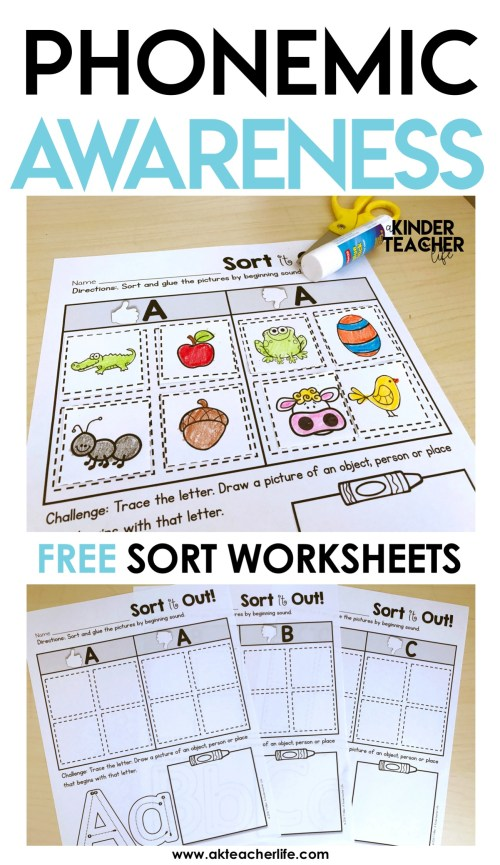 small resolution of Free Phonological Awareness Worksheets   Printable Worksheets and  Activities for Teachers