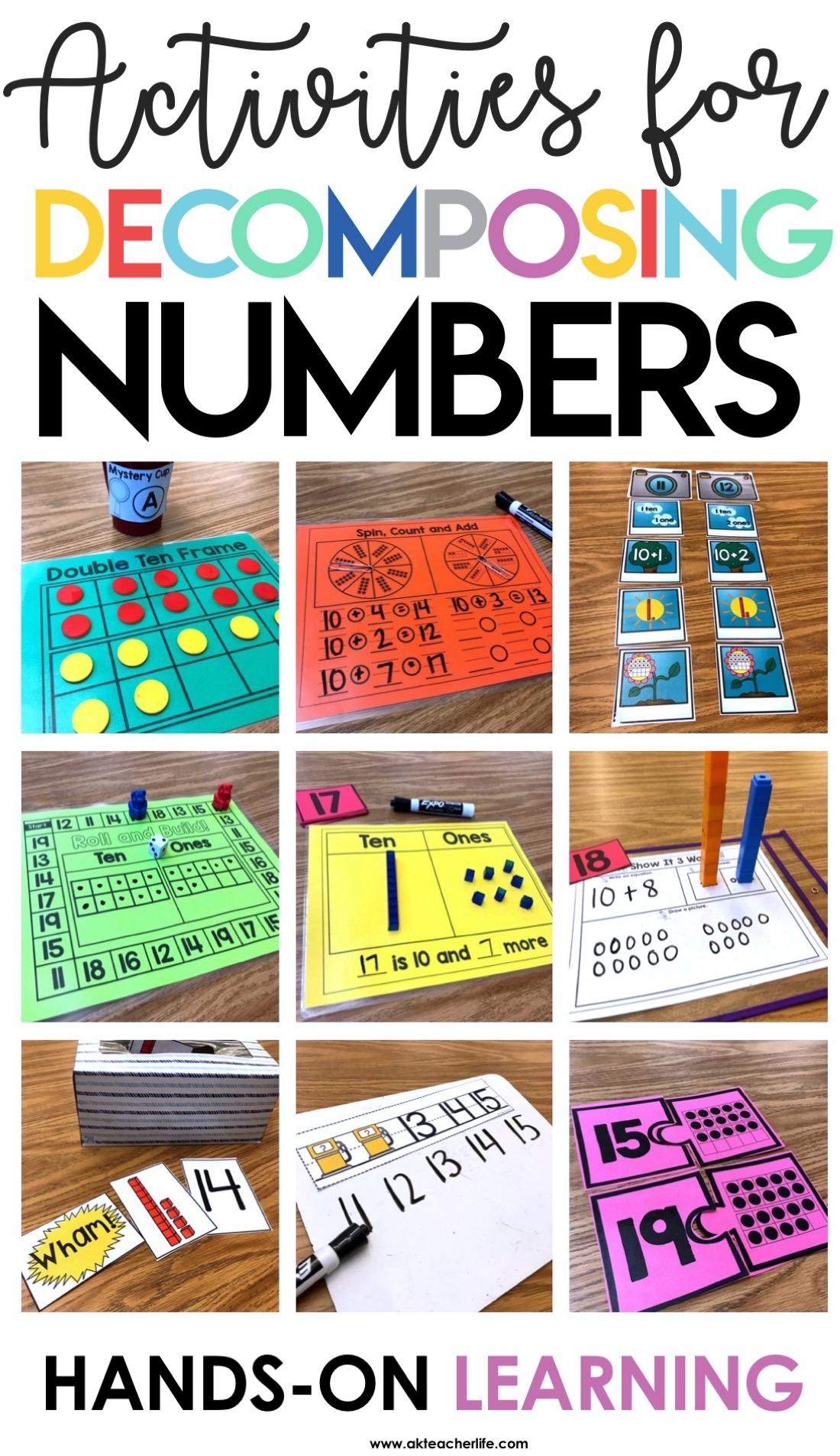 Decomposing Numbers Kindergarten 11 To 19