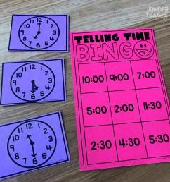 Telling Time Using Hands-on Math Centers - A Kinderteacher Life [ 3024 x 3024 Pixel ]