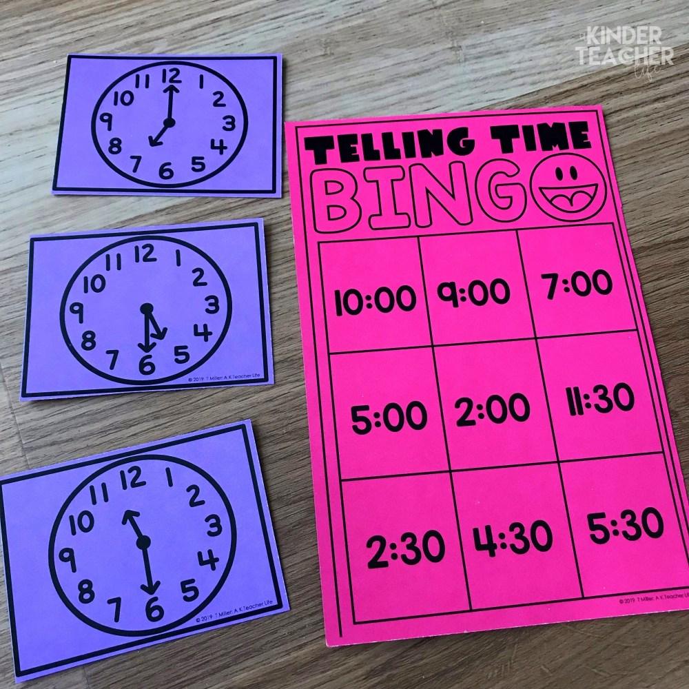 medium resolution of Telling Time Using Hands-on Math Centers - A Kinderteacher Life