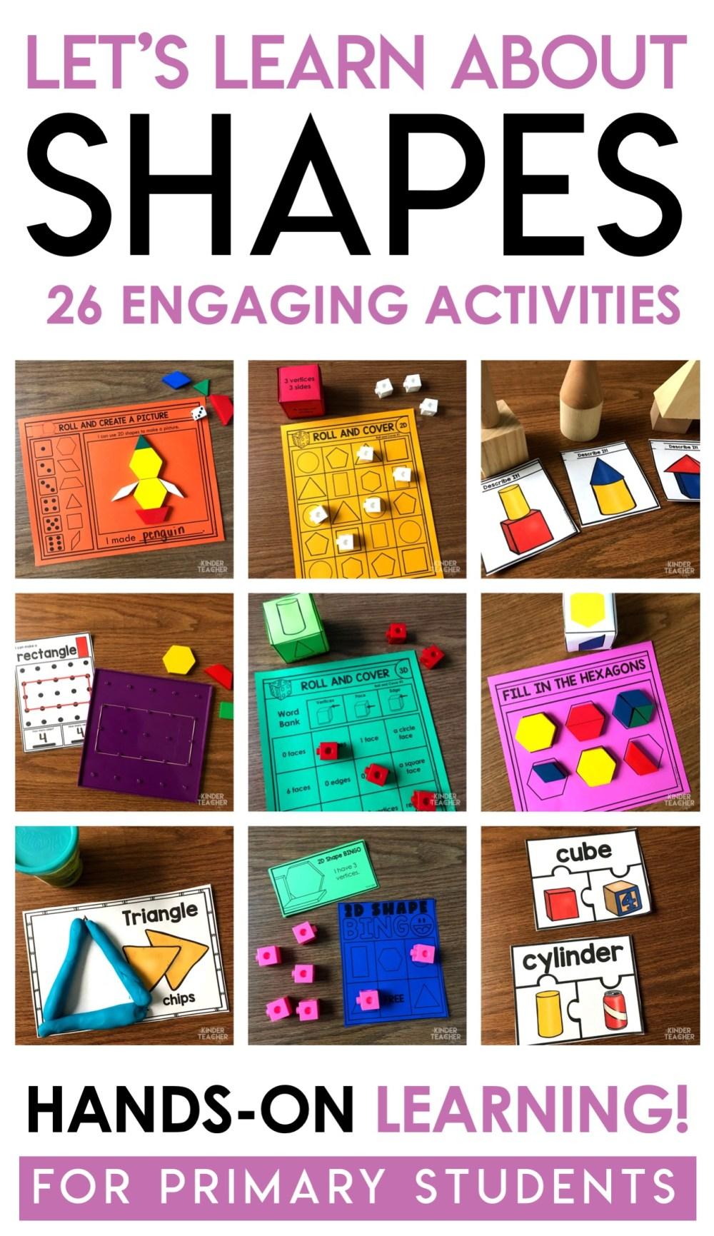 medium resolution of 2D and 3D Shapes Activities Updated! - A Kinderteacher Life