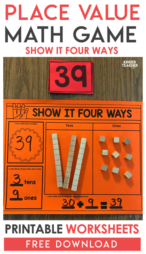 small resolution of Place Value Game: Show It Four Ways - A Kinderteacher Life