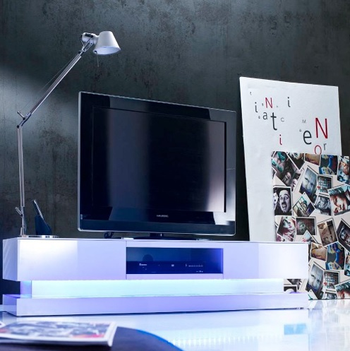 hoogglans meubelen step met LEDverlichting bestellen