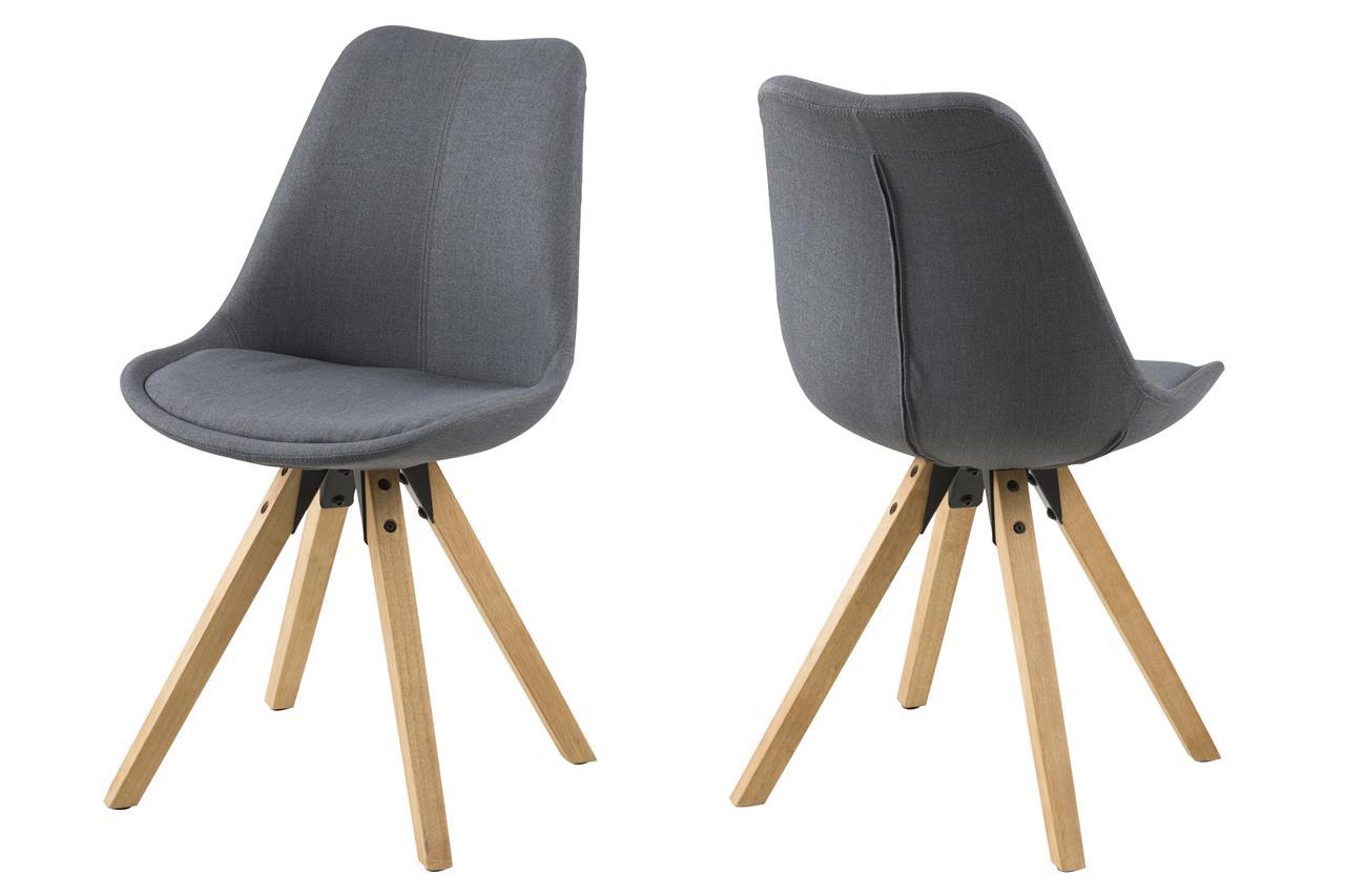 trendy stoel houten poten grijs  Aktie Wonennl