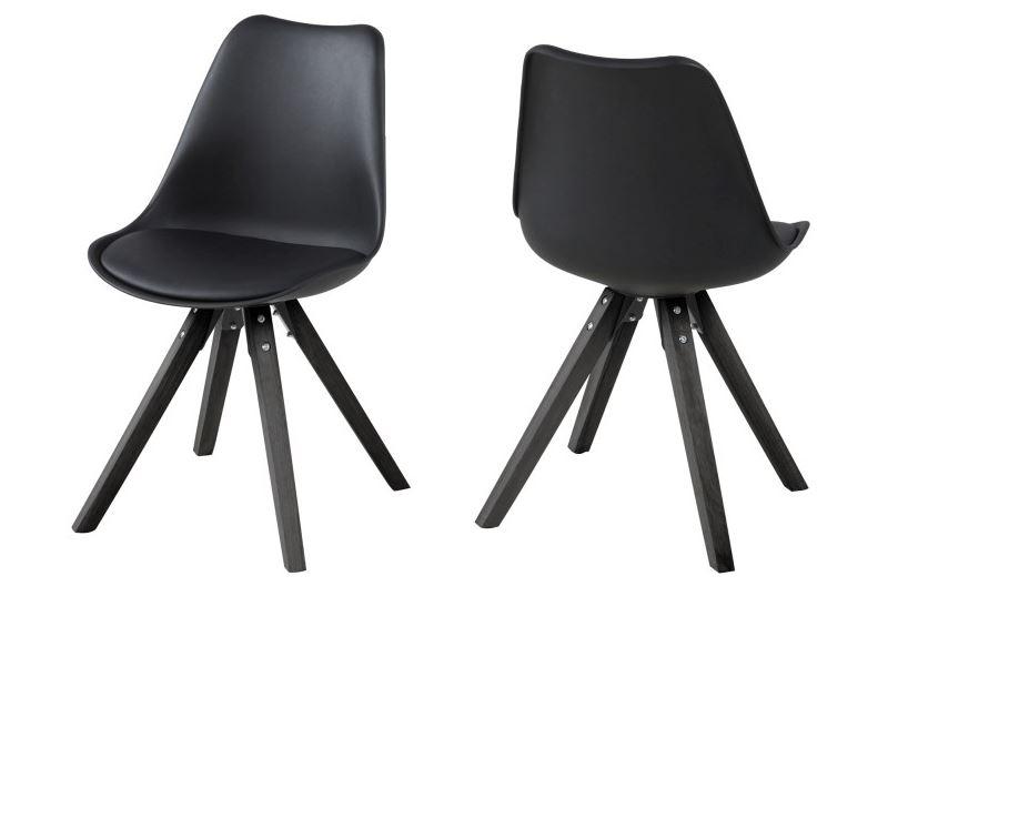 stoel met houten poten zwart  Aktie Wonennl