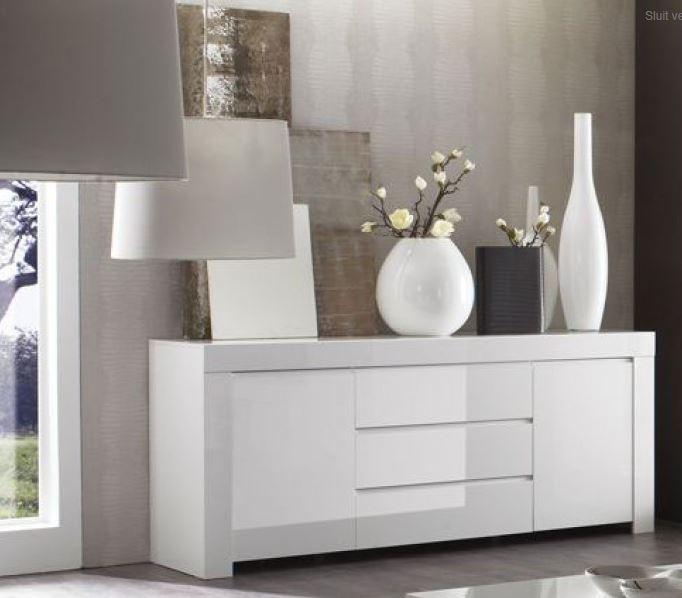 wit hoogglans dressoir kopen  Aktie wonennl
