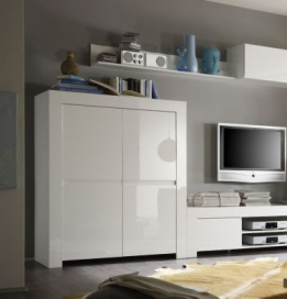 Zwarte en witte hoogglans meubelen  Aktie Wonennl